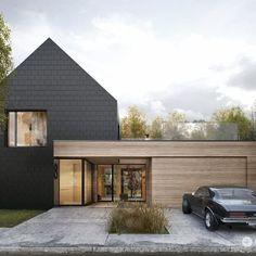 Modern Architecture House, Architecture Design, Tamizo Architects, Modern Barn House, Dream House Exterior, Facade House, House Facades, Scandinavian Home, Future House
