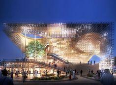 graft presents proposal for german pavilion at expo 2020 dubai Modern Architecture Design, Facade Design, Concept Architecture, Amazing Architecture, Architecture Artists, Dubai, Design Blog, Design Studio, World Expo 2020