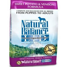 Natural Balance Limited Ingredient Diet Sweet Potato  Venison Formula Dry Dog Food 45lb >>> Details can be found by clicking on the image. (Note:Amazon affiliate link) #DogFood