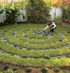 Labyrinth in the garden.