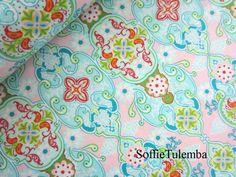 """Baumwolle """" Julia""""  Ornamente rosa von SoffieTulemba-Material auf DaWanda.com"""