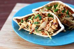 Thai Chicken Salad Pitas Recipe