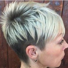 Spiky short hair