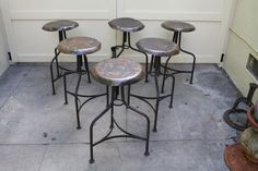 Three PAIRS of Industrial Stools by Platform9 on Etsy, $250.00