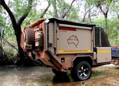 Toughest Off-Road Camper Trailers. Made for Australia with over 25 years' experience manufacturing military and off-road vehicles Jeep Jk, Trailer Off Road, Car Trailer, Station Wagon, Crocodile Dundee, Off Road Camping, Truck Camping, Camping Tips, Adventure Trailers
