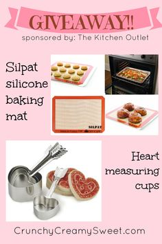 Silpat Silicon Baking Mats & a set of heart-shaped measuring cups – Ends 2/8/13
