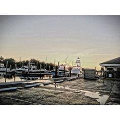 A beautiful morning at Bradley Creek Marina in Wilmington, NC