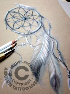 black white tattoo dreamcatcher, indian style drawing