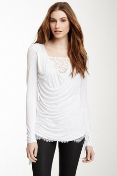 Monoreno Laced Cami Drape Front Top by Non Specific on @HauteLook