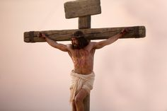 Jesus Christ on the cross at the time of His Crucifixion.
