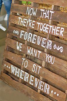 rustic wedding signs via danae jones photography / http://www.deerpearlflowers.com/30-rustic-wedding-signs-ideas-for-weddings/2/