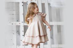 Girls linen dress-girls birthdayr dress-Toddler linen