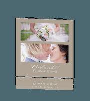 Chique en hip foto bedankkaartje voor jullie bruiloft