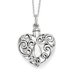 The Grieving Heart - Necklace for Ashes - Deborah J. Birdoes   #CremationNecklace #AshHolderNecklace