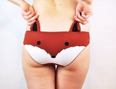 Cute Panties With Animal Faces and Ear Flaps