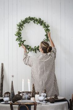 Indoor foliage wreath | @styleminimalism