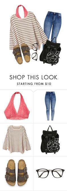 """""""Untitled #40"""" by jiggle207 on Polyvore featuring Hollister Co., MANGO, Hot Topic and Birkenstock"""