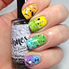 Rainbow gradient by Sweet Sugar Nails