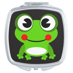 Cute animated frog makeup mirror