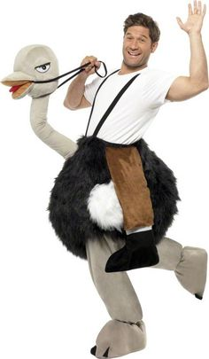 Hilarious Ostrich Fancy Dress Costume from the party animal range. Browse our Animal Costumes, Ostrich Costumes & Emu Costumes for same day dispatch. Animal Costumes, Adult Costumes, Carry Me Kostüm, Halloween Kostüm, Halloween Costumes, Ostrich Costumes, T Shirt Branca, Safari Hat, Costume Ideas