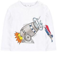 Stella McCartney Kids 斯特拉·麦卡特尼 - Graphic organic cotton T-shirt - 191647