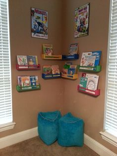 Ikea Spice Racks for bookshelves!! Finally completed! Kids play room!