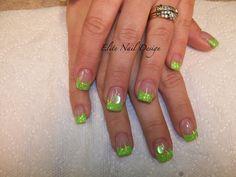 fingernail designs   Beautiful Green Nail Design Art Nail Art Gallery