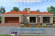 Overall Dimensions- x m Bedrooms- 2 Car Garage Area- Square meters Round House Plans, Tuscan House Plans, Free House Plans, Family House Plans, Best House Plans, Modern House Plans, Home Design Floor Plans, Architectural Design House Plans, Single Storey House Plans