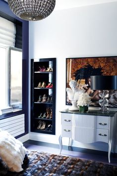 Shoes as art // shoe storage
