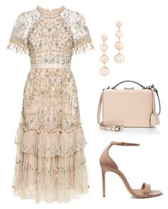 A fashion look from October 2017 featuring lace cocktail dresses, ankle strap shoes and man bag. Browse and shop related looks. Date Outfits, Classy Outfits, Chic Outfits, Dress Outfits, Dress Up, Fashion Outfits, Off White Fashion, Fashion Line, Formal Chic