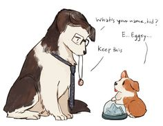 wherever you go, there you are — kadeart: Kingsdog : The Fluffy Service Kingsman Harry, Kingsman Movie, Secret Service, Fun Comics, Marvel Memes, Cute Gay, Service Dogs, Girl Humor, Tela