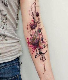 Beautiful lotus sleeve tattoo - 70 Elegant Lotus Tattoo Designs