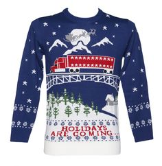 Unisex Holidays Are Coming Christmas Jumper from Cheesy Christmas Jumpers : Main Cheesy Christmas Jumpers, Festive Jumpers, Knitted Christmas Jumpers, Christmas Knitting, Christmas Sweaters, Christmas Clothes, Xmas Jumpers, Christmas Jumper Day, First Christmas Photos