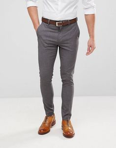 Discover a wide range of fashionable skinny suits for men with ASOS. Shop from a variety of suits in different colours and materials. Order today at ASOS. Mens Skinny Fit Suits, Mens Suits, Trouser Suits, Trousers, Fashion Pants, Mens Fashion, Fashion Outfits, Blazer Outfits Men, Smart Casual Men