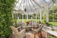 Dating back to the 18th Century, the Grade-II listed home is spread over three floors and even boasts a Gothic style orangery added in the Seventies