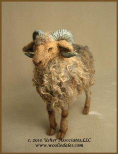 Woolie-animals, birds,needle felted wol sculptures;Wooliedales etc.; Woolydales; usher Samples
