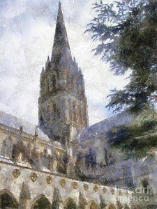 Painting - Salisbury Cathedral By Sarah Kirk by Esoterica Art Agency , Salisbury Cathedral, Icon Design, Fine Art America, Real Life, Cathedrals, Painting, Painting Art, Paintings, Painted Canvas