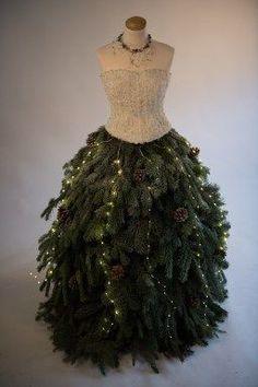 Das fertige Tannenbaum-Kleid
