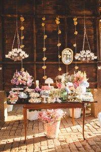 mesa de doces do casamento