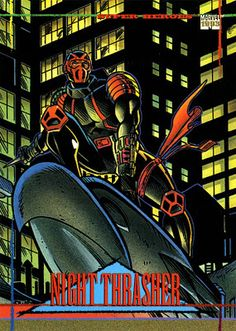 Night Thrasher Photo: Marvel Universe Series 4 This Photo was uploaded by Childhood Characters, Comic Book Characters, Comic Books, Comic Art, Marvel Comics Art, Marvel Dc, Marvel Universe, X Men Funny, Zombie Wallpaper