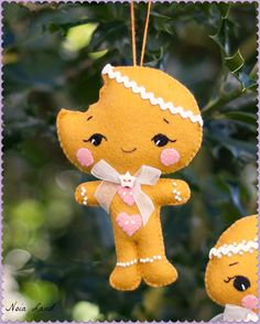 PDF. Gingerbread man and girl pdf Pattern Pattern by Noialand