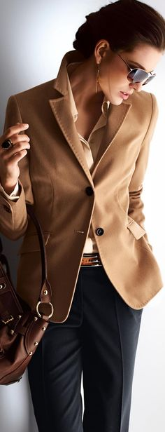 Image result for ladies beige cashmere blazer outfit