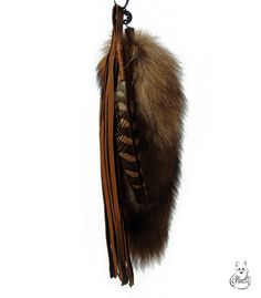 Totem Fox Tail Keychain charm by PlushFurs on Etsy, $32.00