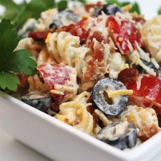 "Bacon Ranch Pasta Salad | ""Big hit with the family! Perfect to take along to the family picnic. If you like bacon you will love this!"""