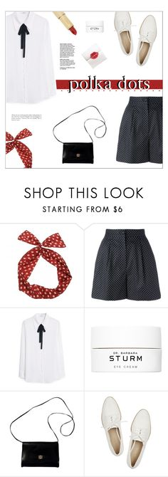 """""""Polka Dots"""" by hiddlescat ❤ liked on Polyvore featuring Dolce&Gabbana, MANGO, Dr. Barbara Sturm, Givenchy, Pour La Victoire, Kate Spade, vintage, PolkaDots, dots and highwaist"""