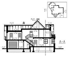 Przekrój Mój Dom Tapien CE Dom, Floor Plans, House, Container, Haus, Homes, Floor Plan Drawing, Houses, House Floor Plans
