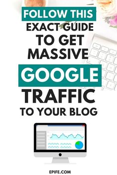 The definitive guide to teach you how to get free google traffic. Follow this step by step system to drive free organic traffic from Google. Learn best SEO tips and increase your website traffic #blogging #bloggingtips #blogtraffic #seo #marketing #google #blog