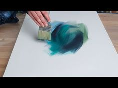 Acrylic Abstract Painting Easy - Speed Painting - 'The Showman' by Rinske Douna Abstract Painting Easy, Abstract Painting Techniques, Acrylic Painting Tutorials, Abstract Watercolor, Diy Painting, Abstract Paintings, Abstract Art, Acrylic Pouring Art, Acrylic Art