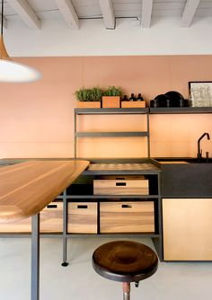 Detail of Salinas, Patricia Urquiola's kitchen for Boffi. Consistency looks clean