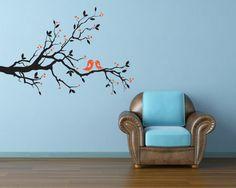 Wall Decor Wall Decal Children Murals Vinyl Sticker - ''Two Birds on a Tree''